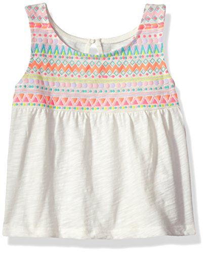 The Children's Place Baby Girls' Tie Tank Top, Snow, 3T (Girls Top)