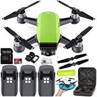 DJI Spark Portable Mini Drone Quadcopter Ultimate Palm Landing Pad Bundle (Meadow Green)