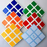 Z Stickers for 5.7cm 3x3x3 Speed Cubes . A Set of High Quality Stickers for Replacement . Standard Bright.