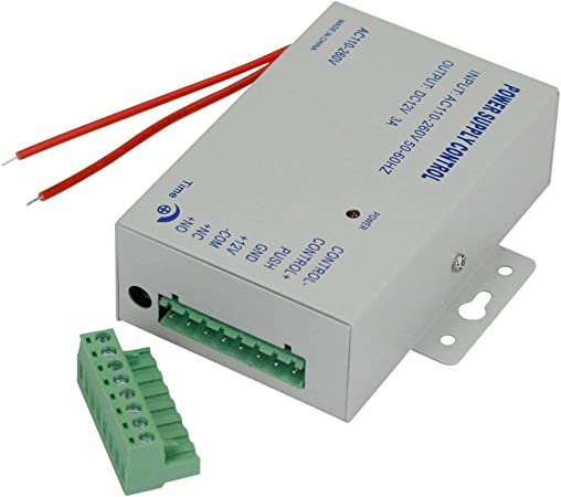 UHPPOTE 110-240VAC to 12VDC Power Supply Controller For Access Control System /&