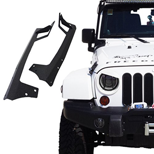 Xprite 52-inch LED Light Bar Upper Windshield Mounting Bracket 2007-2017 Jeep Wrangler JK 4WD, Wrangler Unlimited JK 4WD/2WD