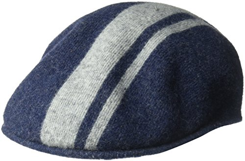 Kangol Men's Code Stripe 504, Navy/Flannel, M (Kangol 504 Wool Cap Hat)