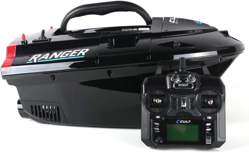 Cult Tackle Ranger GPS Pro Bait Boat incluye GPS + piloto automático | Barco de cebo grande hasta 600 m de alcance | Barco de cebo teledirigido con hasta 5 kg de capacidad