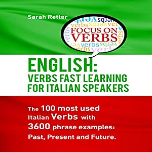 English: Verbs Fast Track Learning for Italian Speakers Audiobook