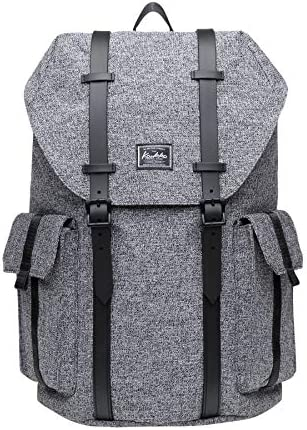 KAUKKO Multipurpose Canvas Backpack Daypack Hiking Travel Shoulder Bag Backpacks