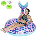Mermaid Pool Float Inflatable Toys Swimming Ring Swim Floating Bed Loungers for Adults Suitable The Beach Holiday