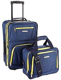 ROCKLAND Luggage 2-Piece Set, Navy, One Size