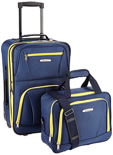 Rockland Luggage 2 Piece Set, Navy, One -