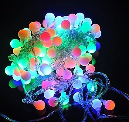 Amazon.com : URToys 5M 50LEDs Colorful RGB Round Ball Fairy LED ...