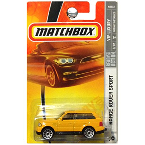 Matchbox 2007 Mbx Vip Luxury 1 64 Scale Die Cast Metal Car   40   Yellow Sport Utility Vehicle Suv Range Rover Sport
