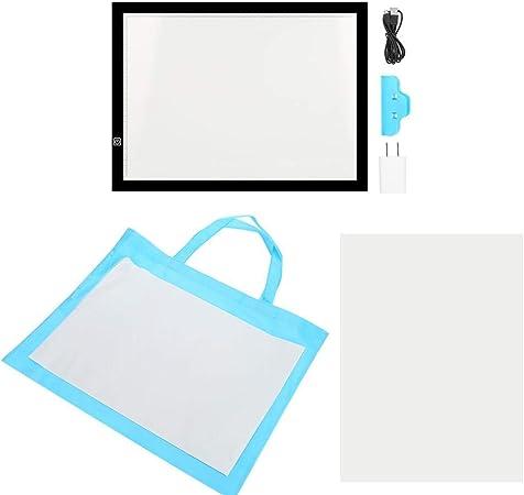 Caja de luz de artista, 220 V A3, tabla de dibujo con LED, diseño Stencil Drawing Thin Pad Copy Lightbox, enchufe de la UE: Amazon.es: Hogar