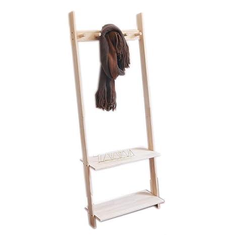 Amazon.com: Angels home Standing Coat Rack High 153CM Solid ...