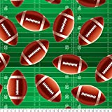 Super Football Cotton Fabric by The Yard