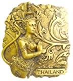 GOLD-LOOK FINISHING KINAREE Bangkok Thailand Souvenir 3d Resin 3D fridge Refrigerator Thai Magnet Hand Made Craft by Thai Magnet Craft