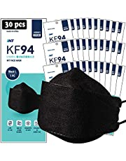 """【 30 Pack 】 INT BLACK KF94 Certified, 4-Layered Face Safety, Patented Adjustable Earloop, FDA Registered Device, Individually Sealed Package""""MADE IN KOREA"""""""