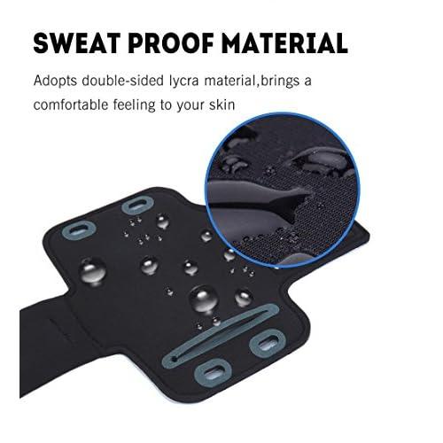 Brazalete deportivo Huawei Mate 10 de neopreno antideslizante anti-sudor funda deportiva Huawei Mate 10 brazalete Huawei Mate 10 soporte para llaves cable tarjetas azul
