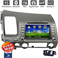 For Honda Civic 2006-2011 Multi-Touch Screen Car DVD GPS Navigation Build-In Bluetooth,Radio with RDS,Analog TV, AUX&USB, iPhone/iPod Controls, Steering Wheel Control, Free Map,Free Camera