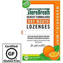 TheraBreath – Dry Mouth Lozenges – Mandarin Mint Flavor – Soothes Dry Mouth Symptoms – Certified Kosher – Sugar Free – Dentist Formulated Lozenges – 100 Count