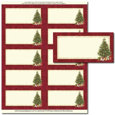amazon com lacy christmas tree shipping mailing labels 30 labels
