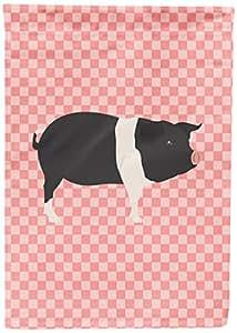 Caroline's Treasures BB7939GF Hampshire Pig Pink Check Garden Flag, Multicolor