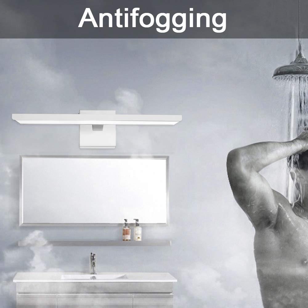 Ikakon Modern Vanity Lights Bathroom Wall Lights Aluminum Vanity Lamp 16W White by Ikakon (Image #3)