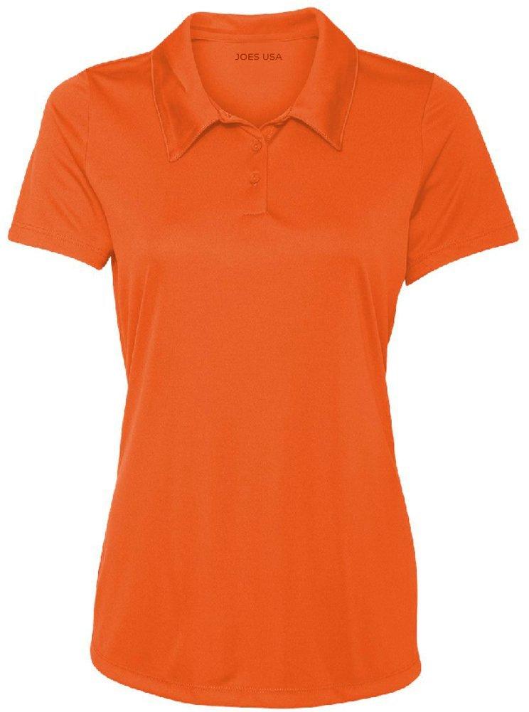 Women's Dri-Equip Golf Polo Shirts 3-Button Golf Polo-3XL-Orange by Joe's USA