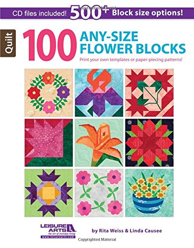 100 Any Size Flower Quilt Blocks + -