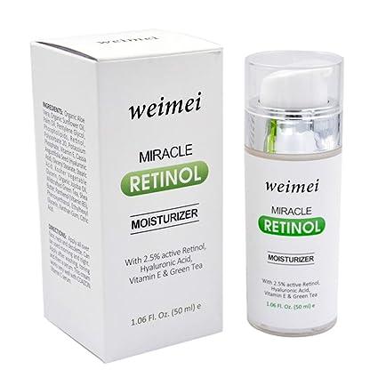 Crema Hidratante rétinol, Antienvejecimiento y antiarrugas para la cara y los ojos, con 2
