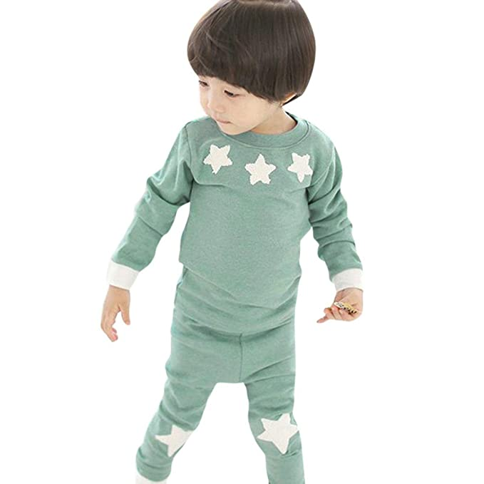 e3961773f Amazon.com  Kids Clothes Boys Girls Star Long Sleeve Sweatshirts ...