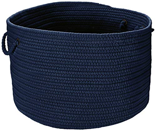 Colonial Mills BR52 18 by 18 by 12-Inch Boca Raton Solid Storage Basket, Navy