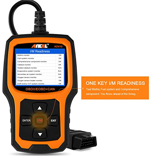 ANCEL AD410 Enhanced OBD II Vehicle Code Reader Automotive OBD2 Scanner Auto Check Engine Light Scan Tool (Black/Yellow) by ANCEL (Image #4)