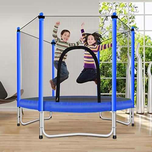 Fashionsport OUTFITTERS Trampoline with Safety Enclosure -Indoor or Outdoor Trampoline for Kids-Blue-5FT by Fashionsport OUTFITTERS (Image #3)
