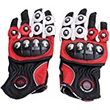 General Mega 1 Pair (L, Red) Full Finger 3D Breathable Mesh + ABS Material Motorcycle Motocross Ridi