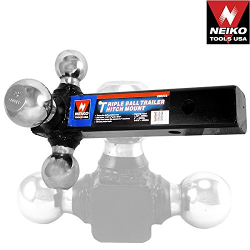 Voyager Tools Triple Ball Trailer Hitch Mount Boat Trailer Hitches and Balls Towing Hitch