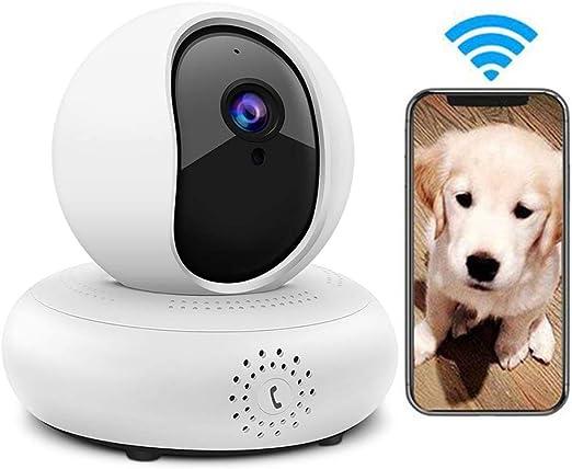 LEEFISH Cámara inalámbrica para mascotas 1080P HD Monitor de perro, cámara de vigilancia, gato, detección de movimiento, visión nocturna, audio de dos vías para bebé/perro/gato: Amazon.es: Productos para mascotas