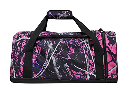 Muddy-Girl-Pink-19-Duffel-Overnight-Carry-on-Bag-with-Shoulder-Strap-Outside-Pocket