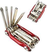 FULARR 11 in 1 Multifunctional Bike Repair Tool, Portable Foldable Bicycle Repair Tool, Mini Stainless-Steel B