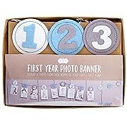 Mud Pie Monthly Milestone Photo Banner, Boy, Blue