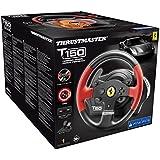 Thrustmaster T150 Ferrari Force Feeback - Volant 1080° avec Retour de Force pour PS4, PS3 et PC compatible avec Sebastien Loeb Evo
