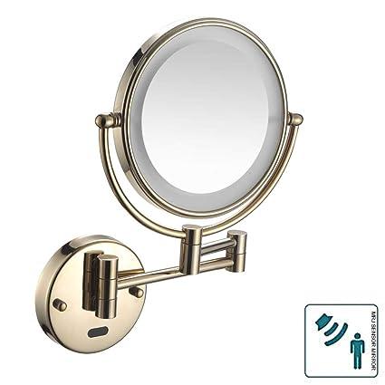Specchio Ingranditore Con Luce.Mrj Specchietti Da Trucco A Parete Illuminato Con Sensore