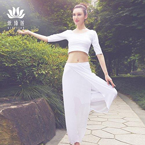 Danza 17111 Ropa Y Otoño Mujer Traje Yoga 17118 Desempeño Blanco Qsheulx Invierno l Fitness De Rendimiento wv6xU07