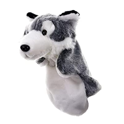 Children Hand Puppet Cartoon Wolf Puppet Toy For Storytelling Fluffy Soothing Toy Plush Finger Puppets: Toys & Games
