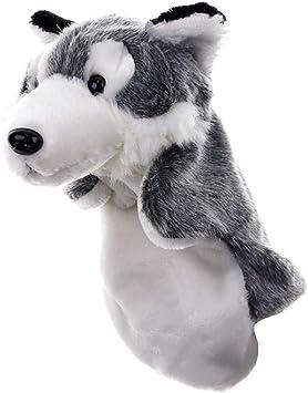 Puppet Giocattolo dei Bambini Puppet del Lupo del Fumetto per La Narrazione Fluffy Lenitivo Peluche Burattini della Barretta di Giocattoli del Bambino