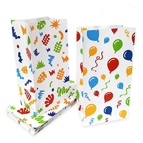 Lucky Party Party Favor Bags Goody Treat Bags for Kids - 24 Pack Party Snacks Bags Party Goodies Candy Cookies Bags for Birthday Hawaiian Party, Classroom Party 10.1 x 5.2 ()