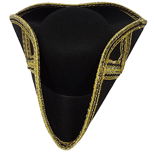 Deluxe Tricorne Hat For Adult By Dress Up America - Colonist Costumes