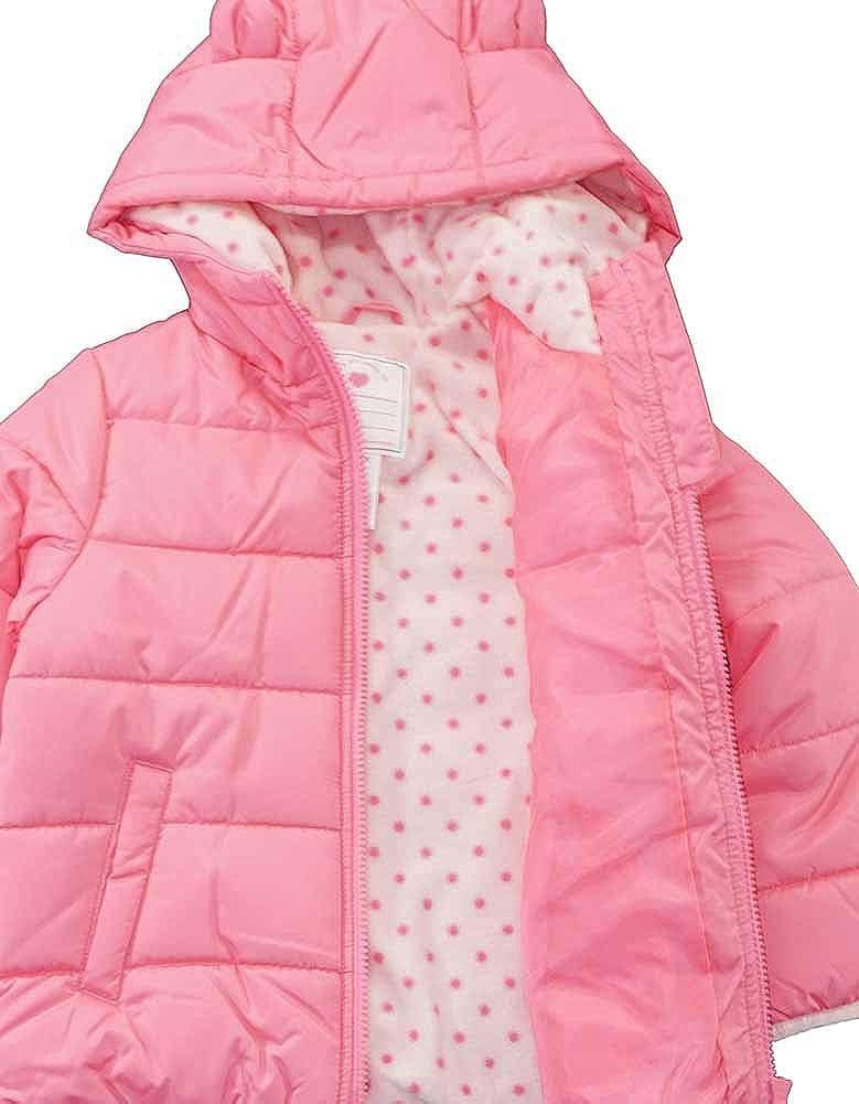 Carters Baby Girls Infant Pink 3D Ear Bubble Jacket