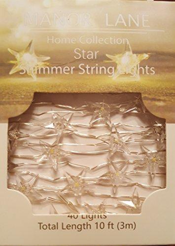 Manor Lane Home Collection Star Shimmer String Lights Manor Homes Set