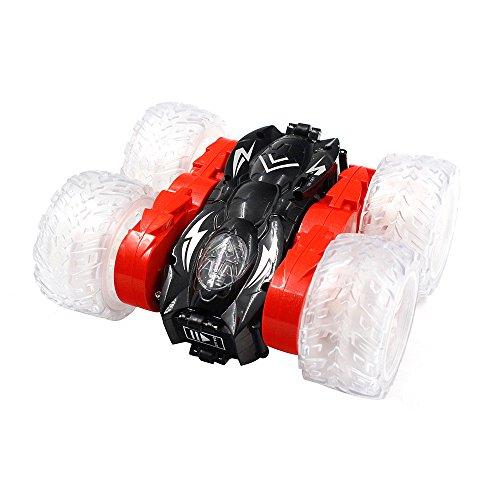 Telecommande Camion K161 360°Spinning And Flips LED Color Flash for Kids Remote Control Truck (Rouge)