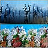 36''(L) x 19.50''(H) Double Sided Aquarium Terrarium Background Decorations