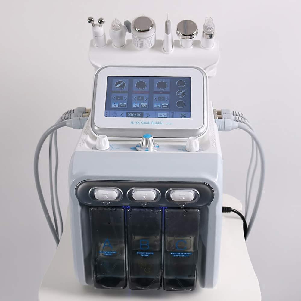 LUBANC Skin Care, 6 In1 H2-O2 Hydro Dermabrasion RF Bio-Lifting Spa Facial Hydro Microdermabrasion Machine